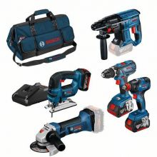 Pack 5 outils 18V 4.0Ah - Bosch 0615990M0T