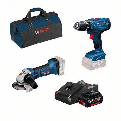 Kit 2 outils perceuse visseuse + meuleuse 125 bosch 18V - 0615990M1J