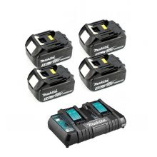 PACK ENERGIE Makita 4 Batteries + 1 Chargeur double - 197626-8C