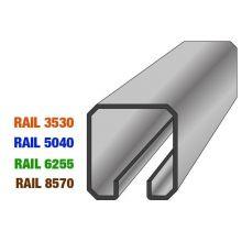 Rail 50x40 longueur 3m / Chemin de roulement pour portes suspendues