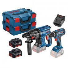 Pack Bosch perceuse-visseuse 18V GSR 18V-28 + perforateur GBH 18V-20 2x4Ah 0615990M0R