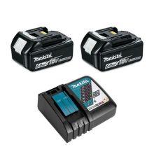 Pack énergie 6Ah 2x18V BL1860B + chargeur simple (en carton) Makita 198116-4C