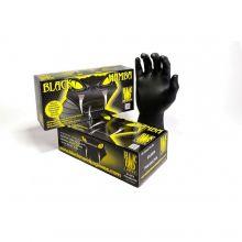 BLACKMAMBA - Boîte de 100 gants jetables nitrile noir