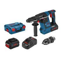 Perforateur Bosch GBH 18V-26F 2X5AH ProCore+ Mandrin interchangeable + L-BOXX - 061191000F