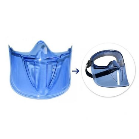 Ecran facial de protection pour lunette Blast