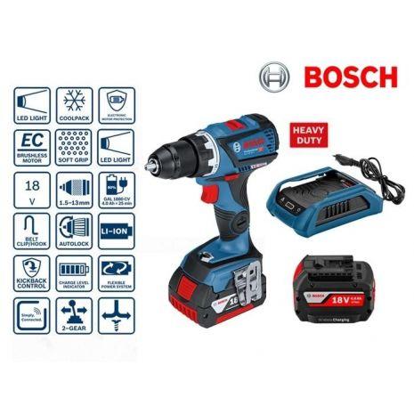 Perceuse visseuse à batterie 18V Li-Ion 4Ah GSR 18V-60 C INDUCTION Bosch f7ae790b06d1