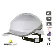 Casque de chantier ABS blanc type casquette Baseball Diamond V