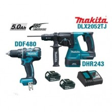Ensemble de 2 machines 18V Li-Ion 5 Ah (DDF480 + DHR243) DLX2052TJ Makita