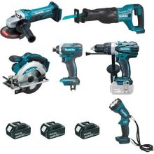 Ensemble de 6 machines 18 V Li-Ion 4 Ah MAKITA