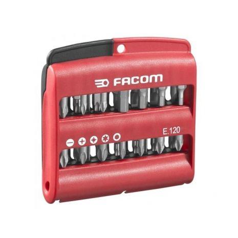 Jeu mixte de 28 embouts (Fente, PH, PZ, 6 pans et Torx) - Facom - E.120
