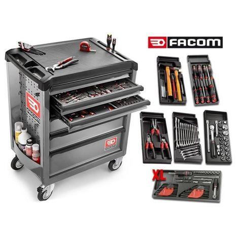 servante roll m3 6 tiroirs grise roll 6gm3 110 outils facom outils fr. Black Bedroom Furniture Sets. Home Design Ideas