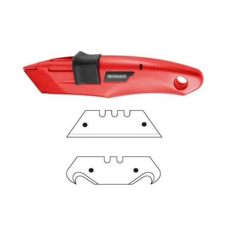 Couteau de sécurité à lame rétractable automatique