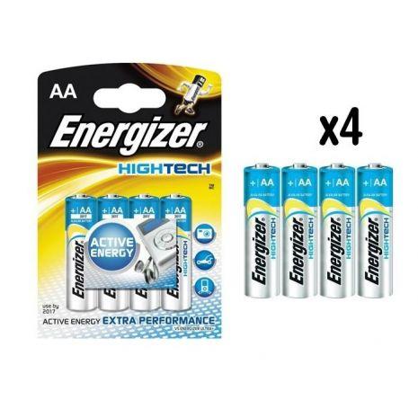4 PILES ALCALINES AA - LR6 ENERGIZER 1,5V