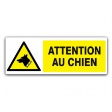 panneau danger attention au chien