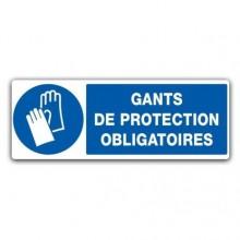 panneau gants de protection obligatoires