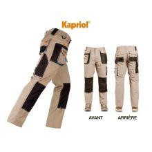Pantalon de travail Smart beige avec renforcement Kapriol