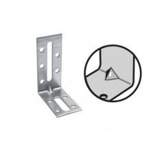 Equerre fixation renforcee acier galva 30x80/55x2,5