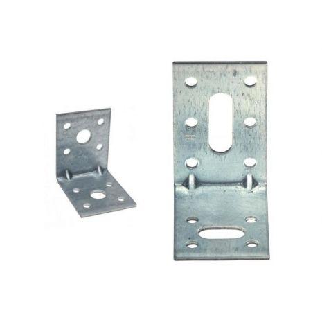 Equerre d'assemblage acier galvanise 40x70x50x2 mm