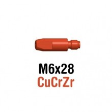 Tube Contact M6x28 CuCrZr pour torches Innershield
