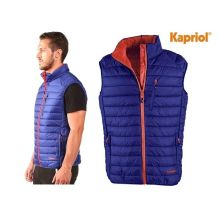 Gilet THERMIC rembourré bleu et orange Kapriol