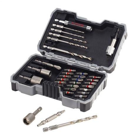 Coffret 35 pièces d'embouts de vissage Bosch + forets à métaux HSS-G 2607017328