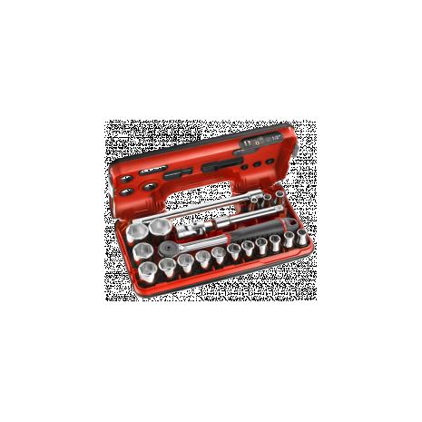 Coffret douil 1/2' 6p mm s.161b 21pc s.161dbox1 Facom