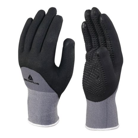 Gant tricot polyamide Spandex paume enduite Nitrile/PU Jauge 15