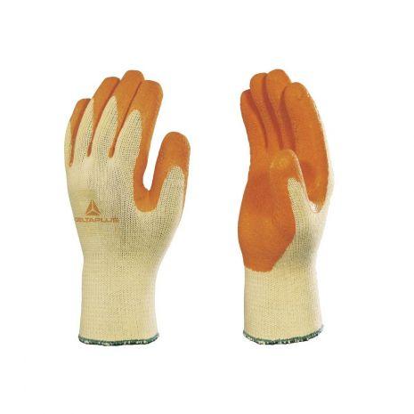 Gant de protection polycoton enduction latex sur paume et bout des doigts VE730