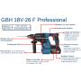 Perforateur sans-fil GBH 18V-26 F 2 x 6,0Ah en L-BOXX + 68 d'accessoires 0615990K1X Bosch