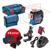 Set professionnel Laser lignes GLL 3-80 C Bosch + set hiver + sac à outils 06159940M3
