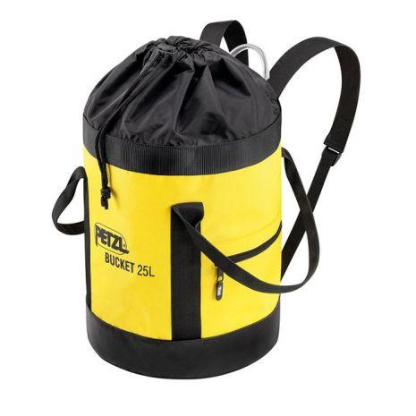 Sac à corde en toile auto-portant jaune 25L BUCKET PETZL S41AY025