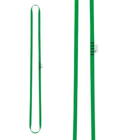 Anneau de sangle vert 120cm Petzl pour réalisation d'amarrage