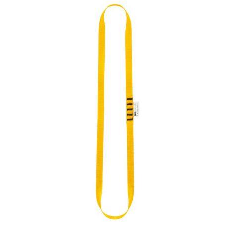 Anneau de sangle jaune 60cm Petzl pour réalisation d'amarrage