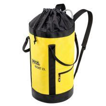 Sac à corde en toile auto-portant jaune 35L BUCKET PETZL S41AY035