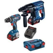 Kit perceuse GSR 18V-28 + perforateur GBH 18V-20 Bosch 0615990K3Z