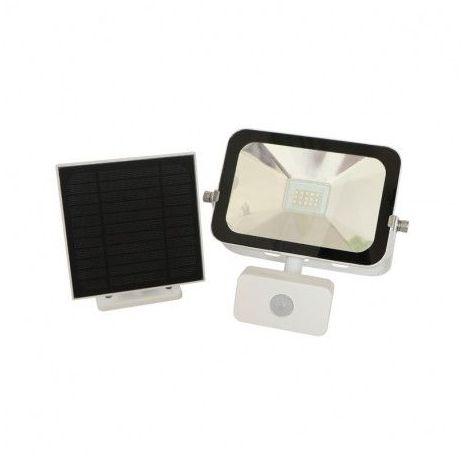 Projecteur Exterieur LED Solaire Blanc avec Détecteur 10W 4000°K IP44