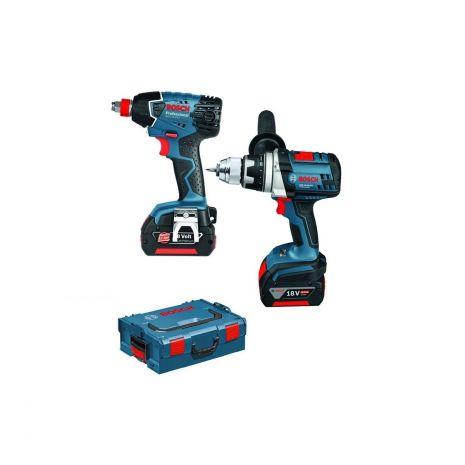 Lot 2 machines GSR 18VE-2-LI + GDX 18 V-LI Bosch 0615990GF7