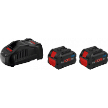 Pack 2 batteries ProCORE18V 8.0Ah + 1 chargeur GAL 1880 CV Bosch 1600A01C4K