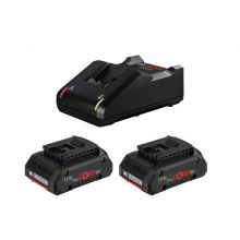 Lot 2 batteries ProCORE 18V 4.0Ah + chargeur GAL 18V-40 Bosch 1600A01BA3