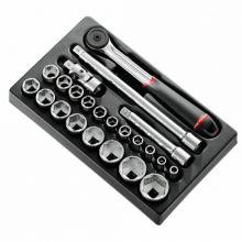 Module cliquet douilles 1/2'' 6 pans métriques MOD.S161-36PB Facom