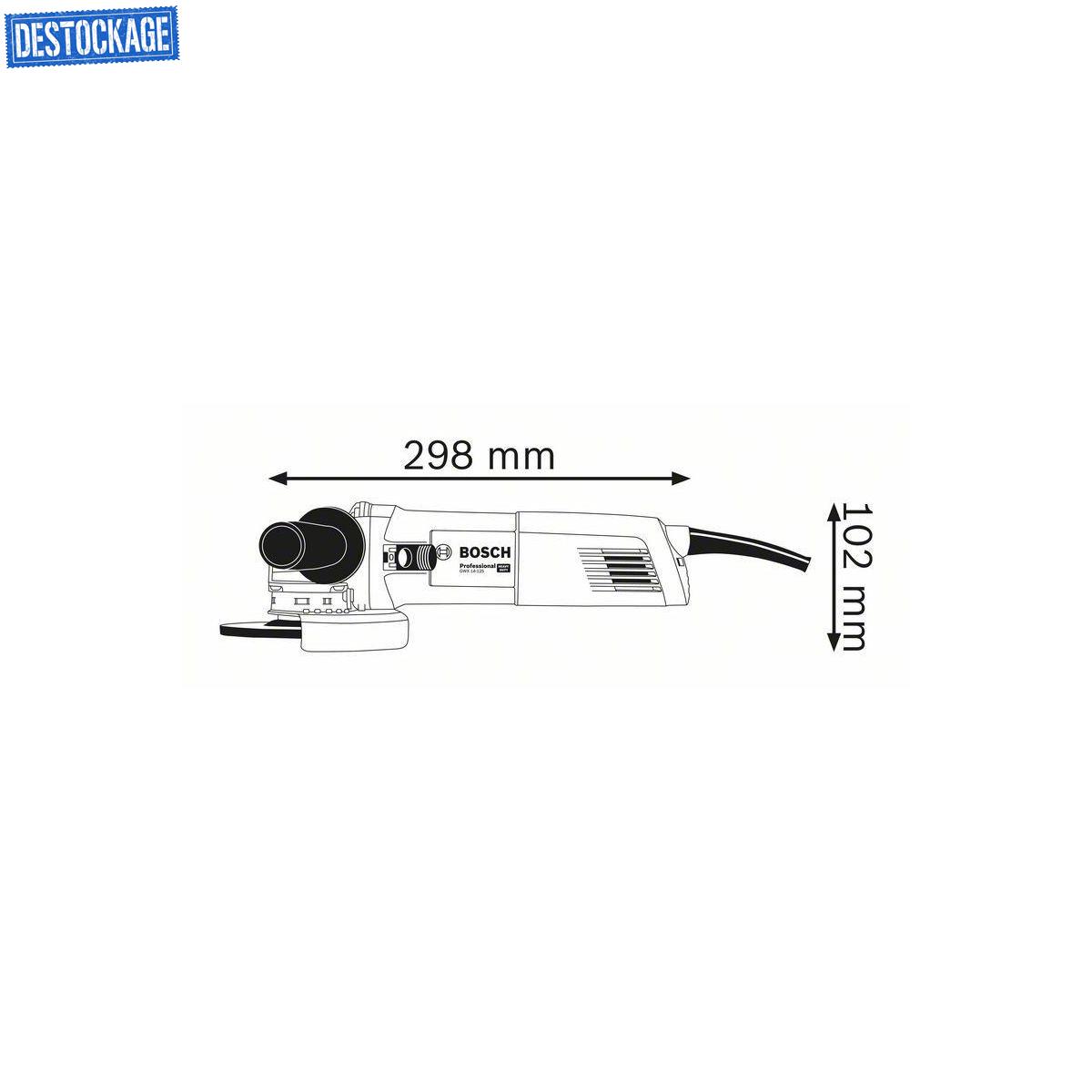 Bosch Professional Meuleuse Angulaire X-Lock GWX 14-125 1400 W, /Ø de meule : 125 mm, Bo/îte carton