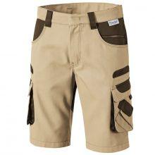 Bermudas de travail beige/marron avec poches PIONIER