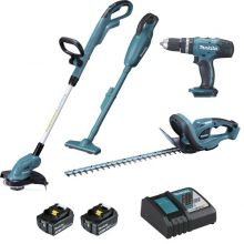 Ensemble de 4 machines 18V 3Ah DLX4093 Makita (DUR181 + DHP453 + DUH523 + DCL180)
