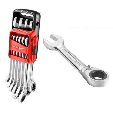 Jeu de 10 clés mixte à cliquet métrique Ultra Grip 467B.JP10PB Facom