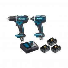 Ensemble de 2 machines (DDF482 + DTD152) + 3 batteries 5Ah DLX2127TJ1 Makita