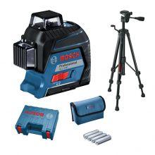 Laser lignes GLL 3-80 Professional + trépied BT 150 Bosch 06159940KD