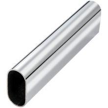 Tube ovale de penderie en acier ø30x15 mm ep. 0,8mm longueur 3m