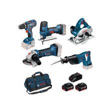 Kit 5 outils 18V Bosch + 3 batteries 4.0 Ah + 1 chargeur 1860CV 0615990K6N