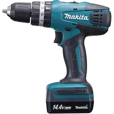 Perceuse visseuse a percussion 14,4V Li-Ion 1,3 Ah ø10 mm Makita HP347DWE