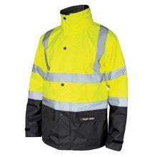 Parka haute visibilité / veste de pluie HV SKY jaune et noire